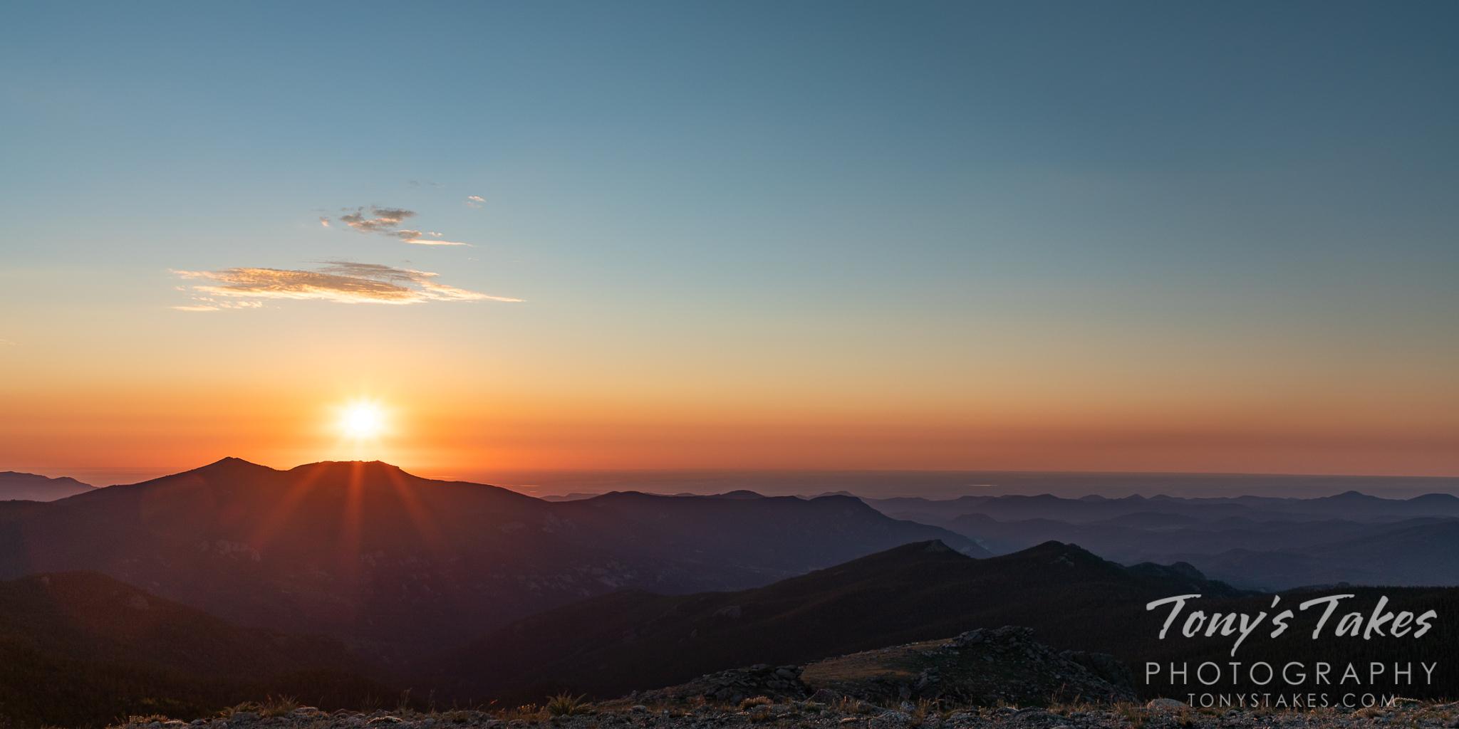 Sunrise from 14,000 feet