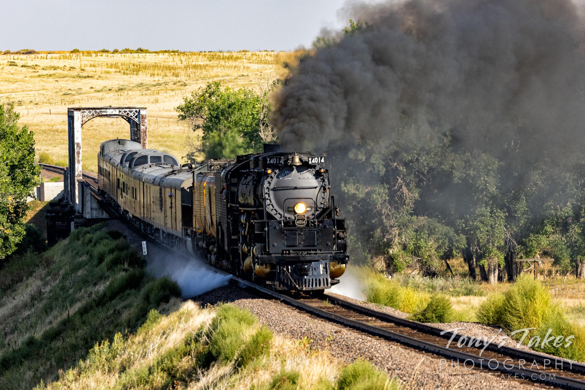 Union Pacific's Big Boy rolls across the Colorado plains