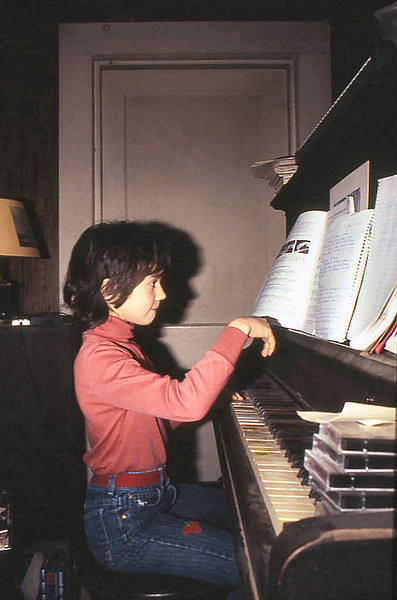c 1986 - Little Girl with Big Piano