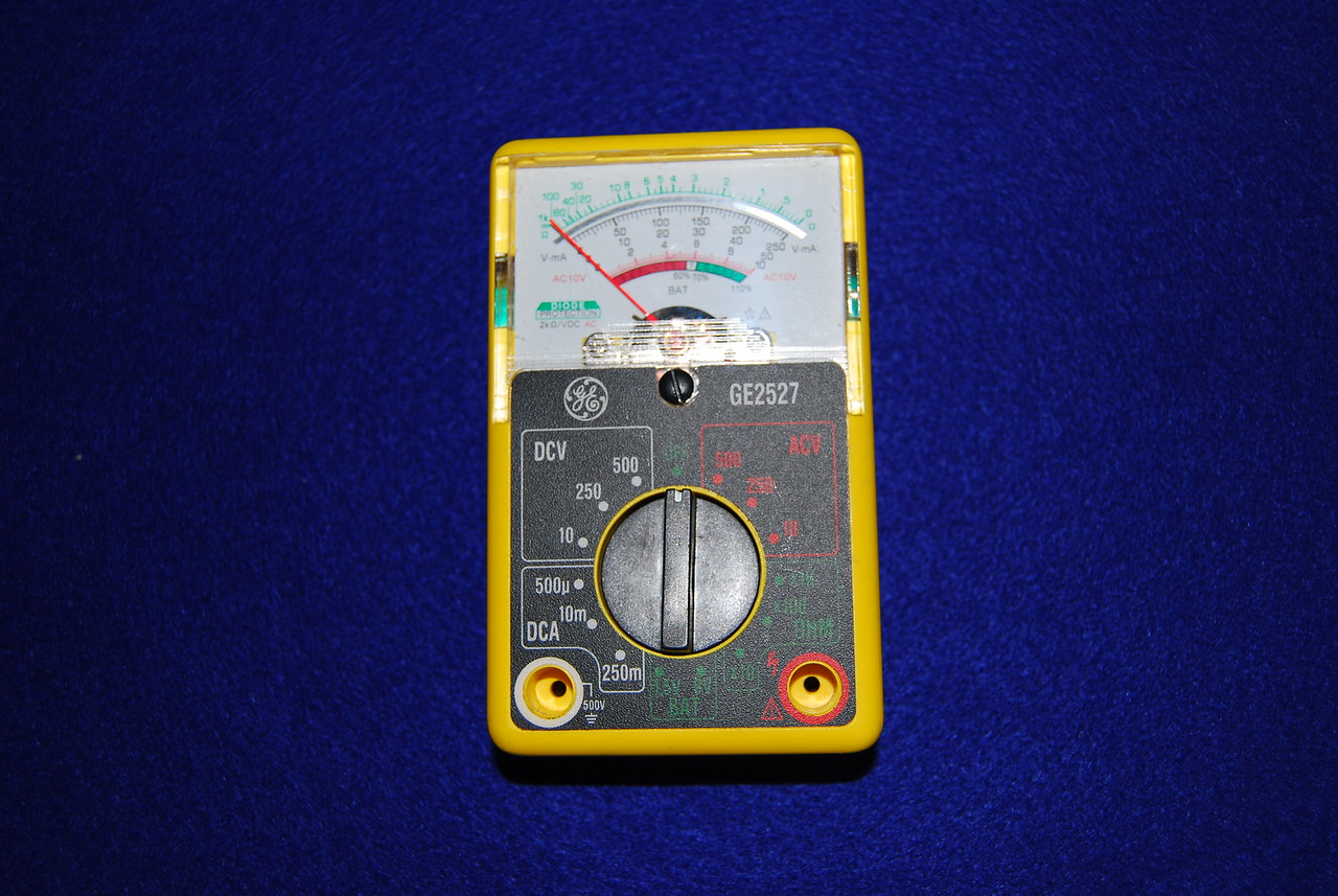 I do not recommend this type of anology meter. You really need a meter that can read 2 decimal points to monitor battery status. This type of analog meter is not accruate enough.
