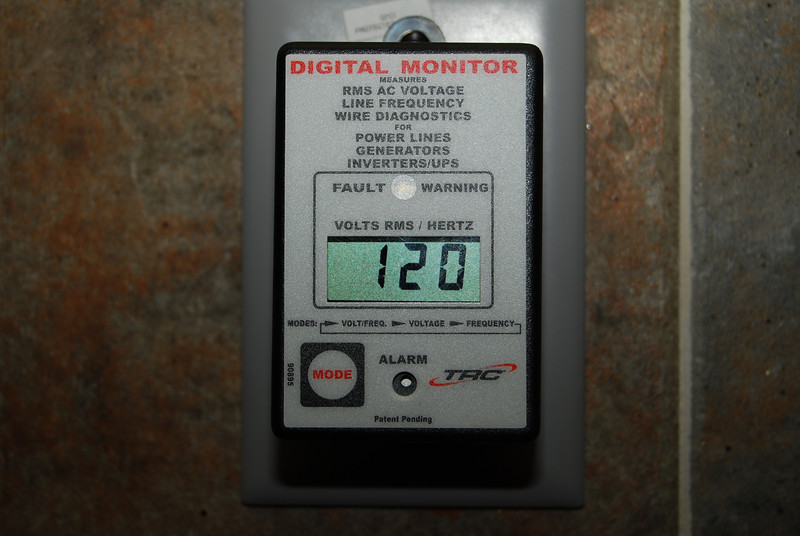 This monitor allow me to constantly check on the camp ground voltage while camping.  It will alarm if the voltange drops below 102 volts or above 135 volts.