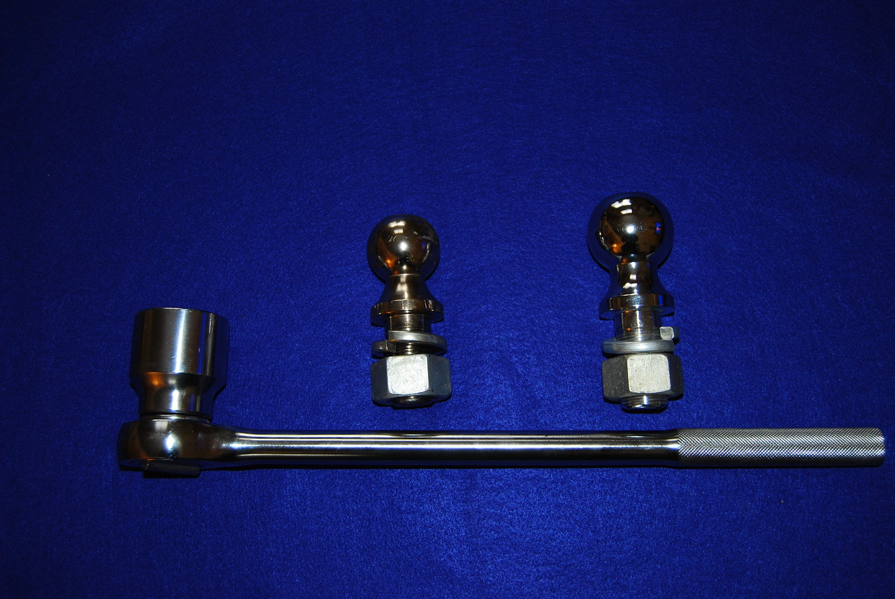 """You will need either a 1 7/8"""" wrench to tighten or remove the nuts on the 1 1/4"""" diameter shafts.  I ended up purchasing a 1 7/8"""" socket and a 3/4"""" socket wrench."""