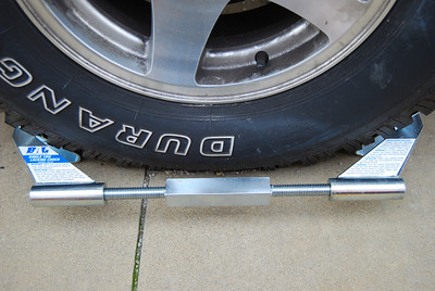 When in place the BAL single tire locking chock provides excellent stability to your trailer