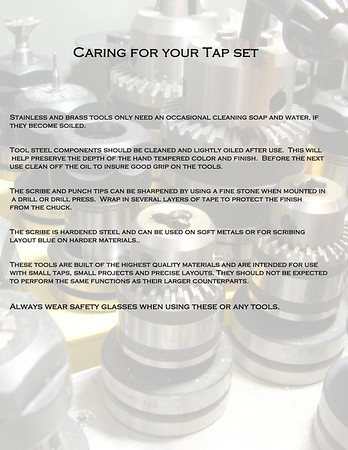 Caring for Your Tap Set