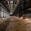Industrial interior of a large building