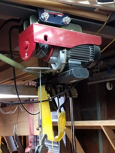 2000 Lb. Overhead Electric Hoist With Remote Controls, L/R Up/Down