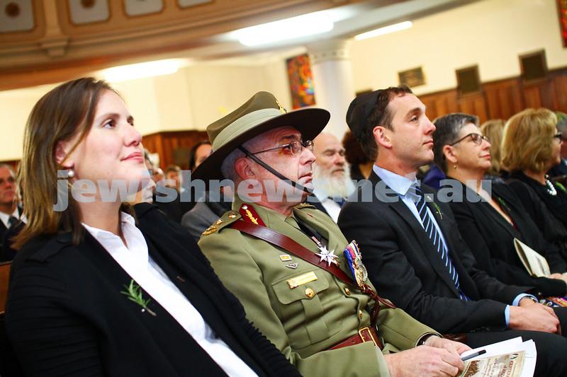 23-4-15. Anzac 100 years memorial at Toorak Shul. Photo: Peter Haskin