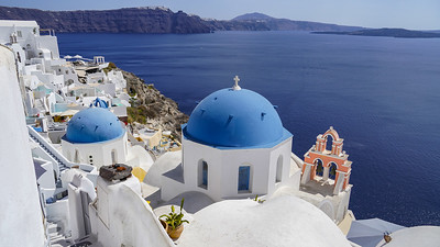 Blue domes