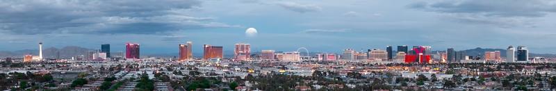 Moon Rise over Las Vegas