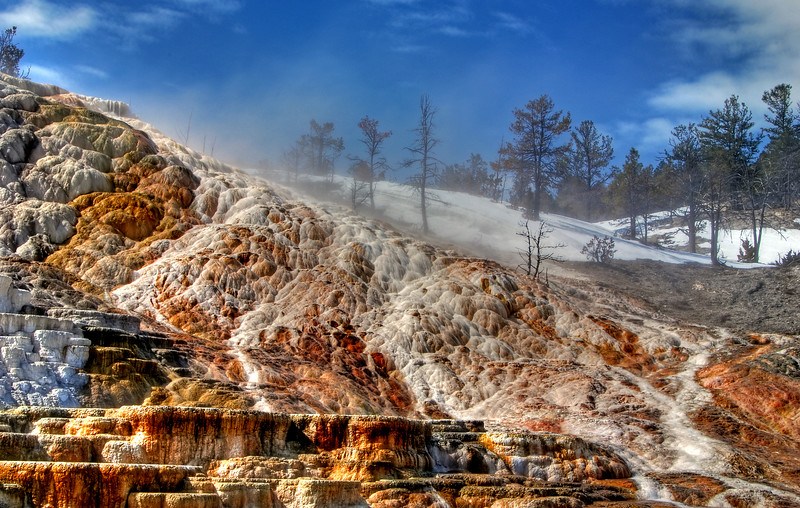 Palette Spring, Yellowstone  # 23-233HDR