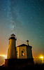 Bandon, Oregon. Coquille River Lighthouse. # 7-12-1ed1
