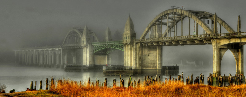Siuslaw River Bridge, Florence, Oregon.