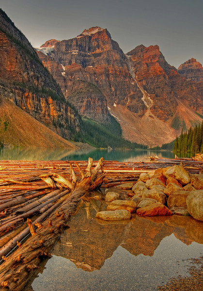 Lake Moraine, Banff National Park  # 192-181HDR