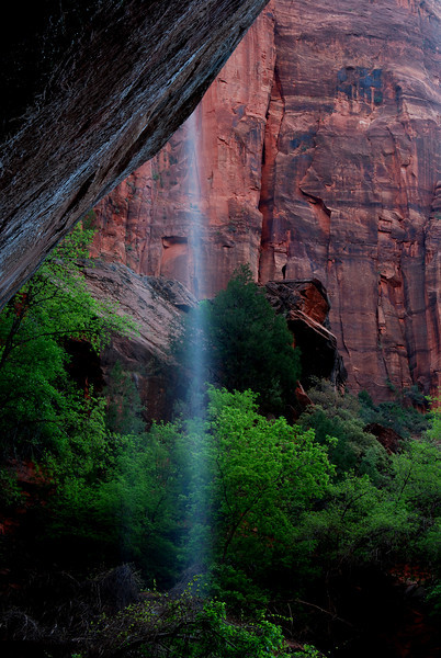 Emerald Pools Waterfall, Zion National Park # 103-010