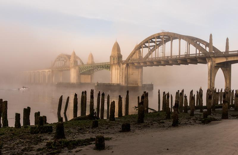 Siuslaw River Bridge, Florence, Oregon.