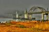 Siuslaw River Bridge, Florence, Oregon # 95-8/13/11HDR7