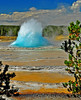 Burst Of the Blue Bubble, Great Fountain Geyser, Yellowstone National Park.  # 52-261ed6