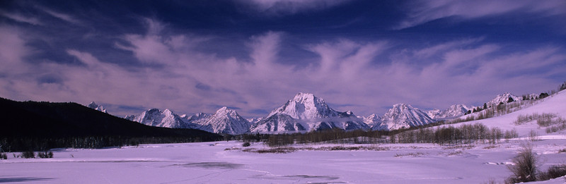 Winter at Oxbow Bend, Tetons