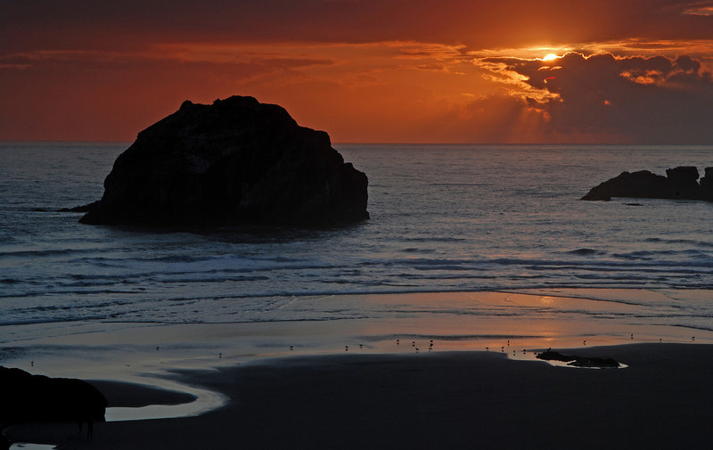 Sunset at Face Rock, Bandon, Oregon #399-050