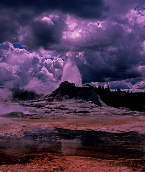 Storm over Yellowstone  # 2 ed5...Castle Geyser