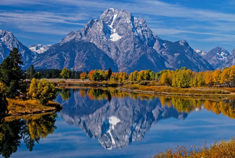 Mt. Moran at Oxbow Bend, Grand Teton National Park.
