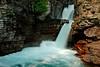 St. Mary's Falls, Glacier NP  # 55-179