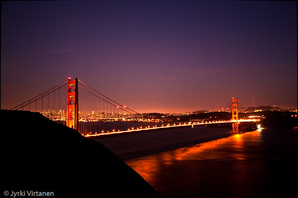 Golden Gate Bridge at Night - San Francisco, CA, USA