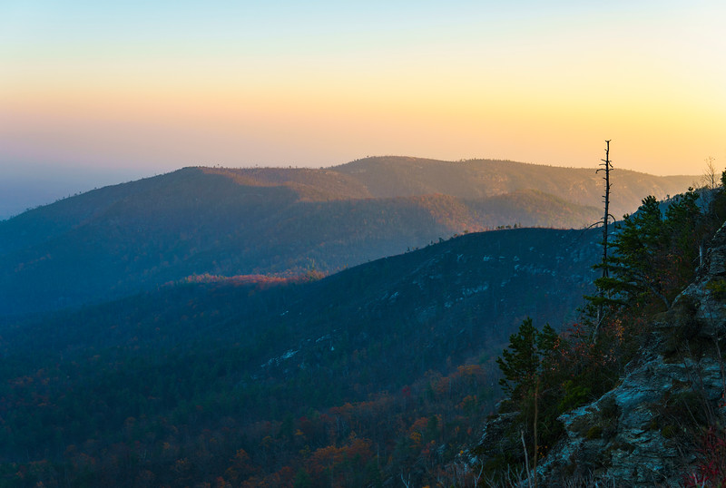 Last Light - Linville Gorge, North Carolina