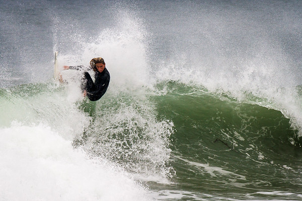 Fantastic female surfer at El Porto, Manhattan Beach, CA. Tag her if you know her.