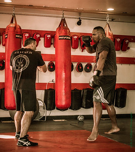 "Glen ""Big Baby"" Davis (LA Clippers) trains in MMA with John ""the Bull"" Marsh."
