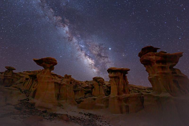 Hoodoos Under the Stars