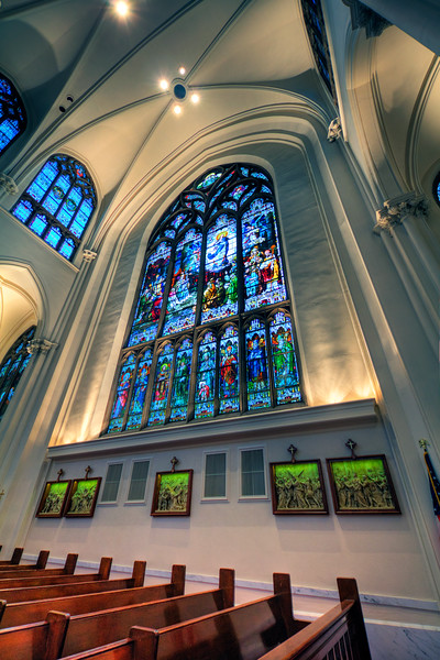 Stained Glass at the Basilica