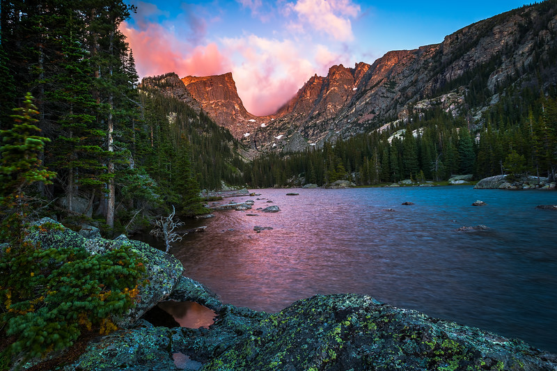 Sunrise at Dream Lake