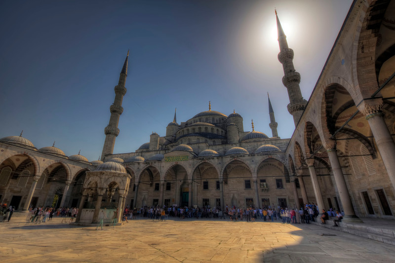 Courtyard at The Blue Mosque