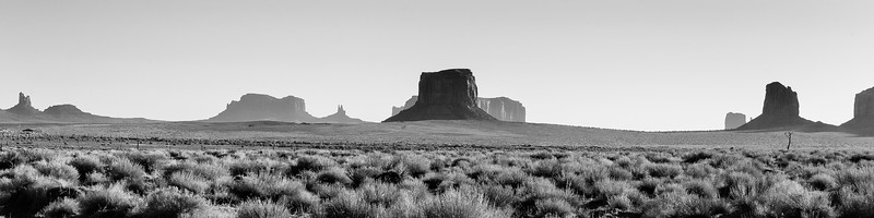 Silhouettes of Monument Valley