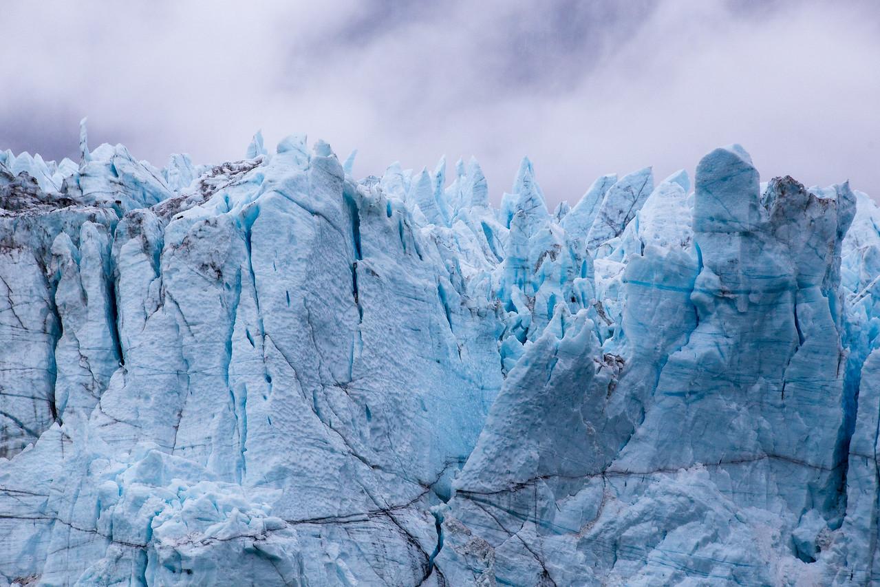 Close-up Look of the Grand Pacific Glacier in Glacier Bay National Park, Alaska