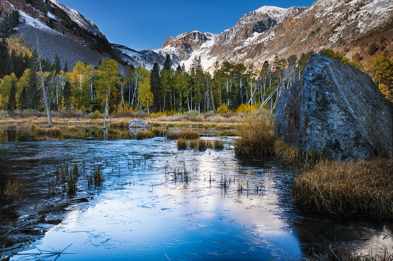 Freezing Pond, Eastern Sierra Nevada