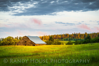 By the Barn's Early Light  Near Priest River, Idaho