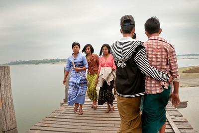 U Bein's Bridge, Taungthaman Lake, Amarapura