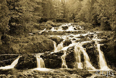 Cascade Waterfalls (Sepia)