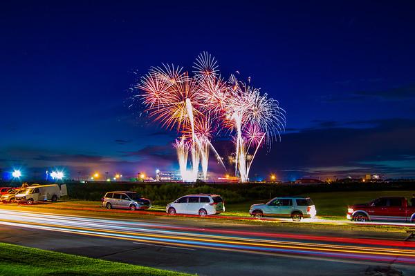 Fireworks over Canterbury Park - Shakopee, MN