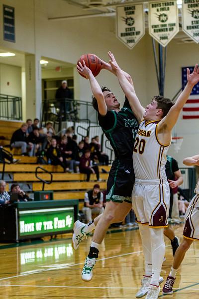 Holy Family Varsity Boys Basketball vs. Jordan, 1/23/20: Gavin Lund '21 (11)