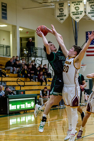 Holy Family Varsity Boys Basketball vs. Jordan, 1/23/20: Gavin Lund '21 (11)