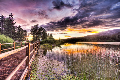 Stanfield Marsh Boardwalk, Big Bear Lake, California, USA