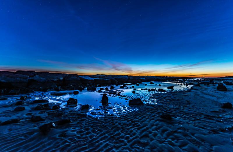 Predawn Colors Over Barnegat Beach 2/17/18