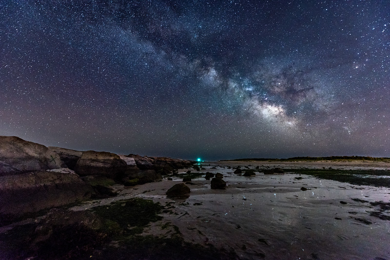 The Milky Way Rising Over Barnegat Jetty 5/27/17