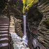 Cental Cascade Waterfall in Watkins Glen State Park, NY 10/16/17