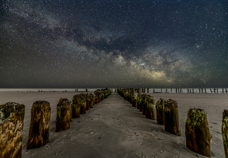 The Milky Way Rising Over Century Old Remnants Of Coast Guard Station 3/14/21