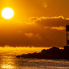 Sea Smoke Over Ocean During Frigid Sunrise at Shark River Inlet 1/31/19