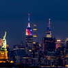 The Empire State Building With The Statue of Liberty & One Vanderbilt Building 7/4/21